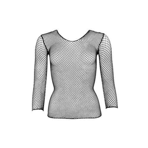 Mandy mystery Line Netz-Shirt mit langem Arm