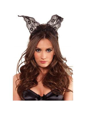 Leg Avenue Haarreifen mit Bunny-Ohren aus Spitze