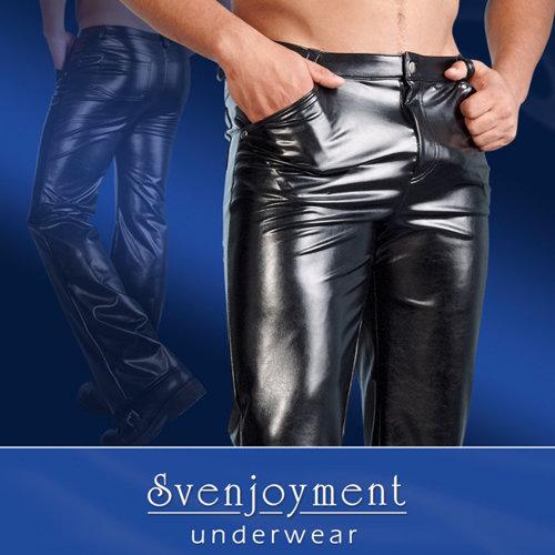 Svenjoyment Underwear Hose aus Kunstleder in Schwarz