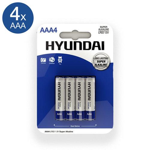 Hyundai Super Alkaline AAA Batterien - 4 Stück