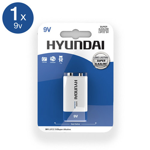 Hyundai Super Alkaline 9V Batterie