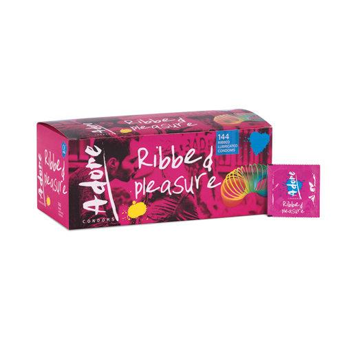 Pasante Adore Pleasure Kondome mit Riffeln 144 Stück
