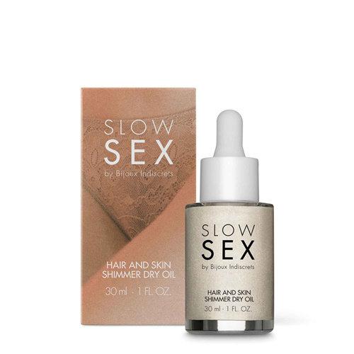 Slow Sex Trockenes Schimmeröl für Haut und Haare - 30 ml