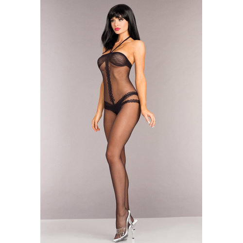 Be Wicked Ouvert Catsuit mit Neckholder