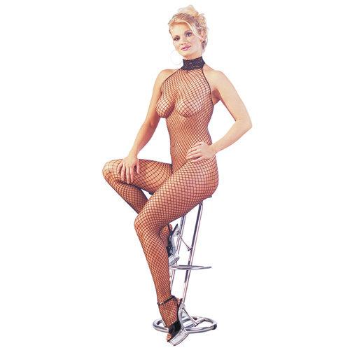 Mandy mystery Line Netz Catsuit mit kleiner Lust Öffnung