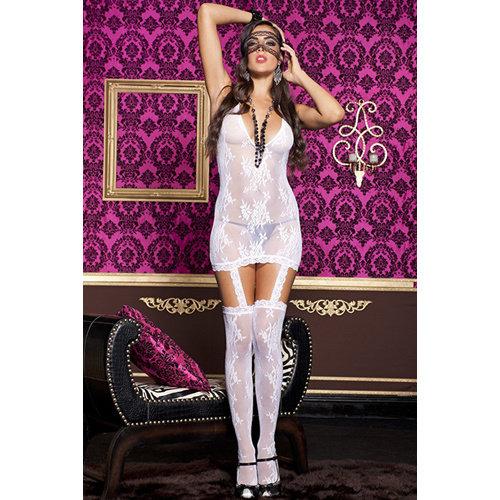 Music Legs Strapskleidchen - Weiß