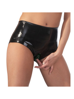 The Latex Collection Latex Slips mit Vagina Kondom
