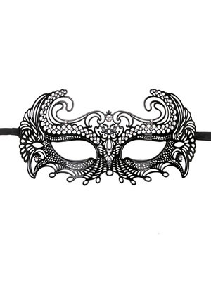 Easytoys Fetish Collection EasyToys – Venezianische Maske aus Metall in Schwarz