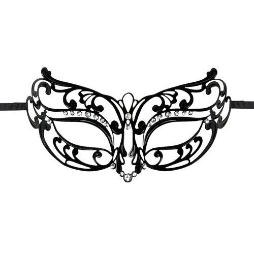 Easytoys Fetish Collection EasyToys – Durchbrochene Maske aus Metall in Schwarz