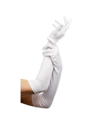 Fever Lange Handschuhe - Weiß