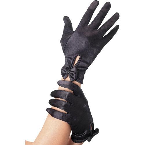 Fever Handschuhe mit Schleife - Schwarz