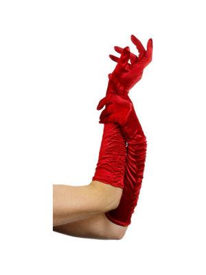 Fever Lange Handschuhe - Rot