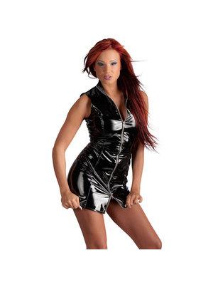 Black Level Vinyl Kleid mit Reißverschluss