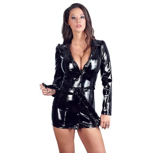 Black Level Mantelkleid aus schwarzem Lack