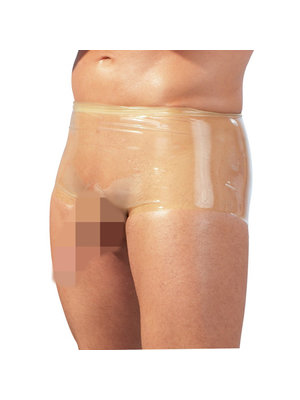 The Latex Collection Latex Boxershorts mit Penishülle - Transparent