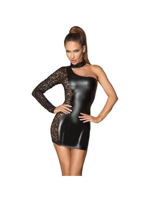 Noir Handmade Kleid aus Wetlook und Spitze