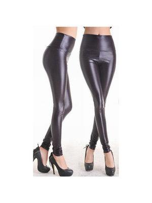 Sexy Kleidung Leggings im Wetlook in Schwarz