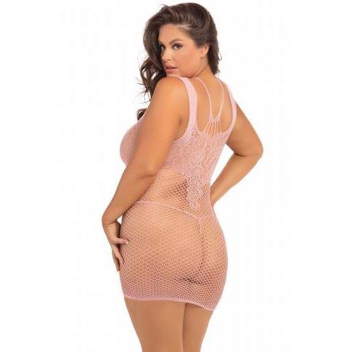 Rene Rofe Absolutist Kleid - Rosa - Übergröße