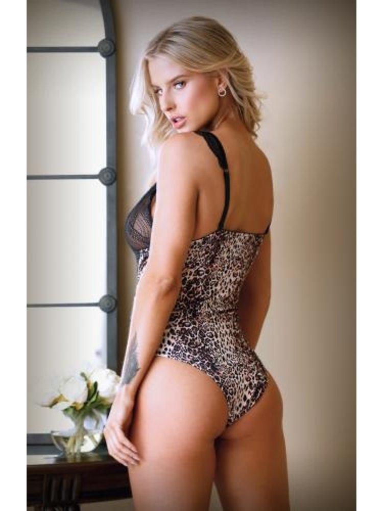 Tease Lorena Body mit Spitze - Leopardenmuster