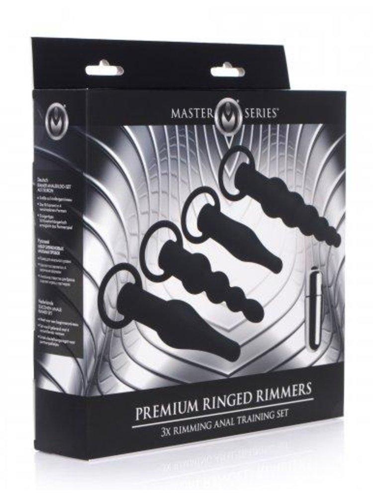 Master Series 4-teiliges Analplug-Set mit Kugelvibrator