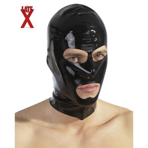 The Latex Collection Latex Kopfmaske schwarz