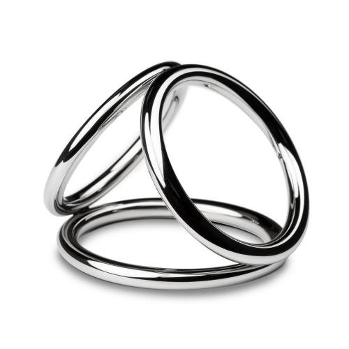 Sinner Gear Unbendable Triad Chamber Metall-Penis- und Eierring - Groß