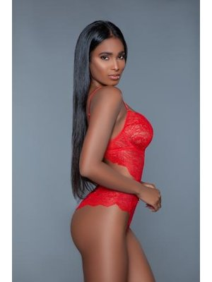 Be Wicked Bettany Bodysuit aus Spitze - Rot