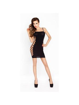 Passion Sexy schwarzes Minikleid