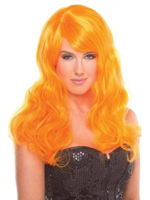 Be Wicked Wigs Burlesque-Perücke - Orange