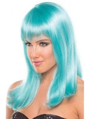 Be Wicked Wigs Hollywood-Perücke - Wasserblau