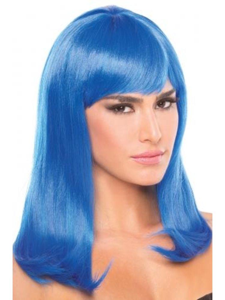 Be Wicked Wigs Hollywood-Perücke - Blau