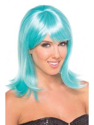 Be Wicked Wigs Puppenperücke - Wasserblau