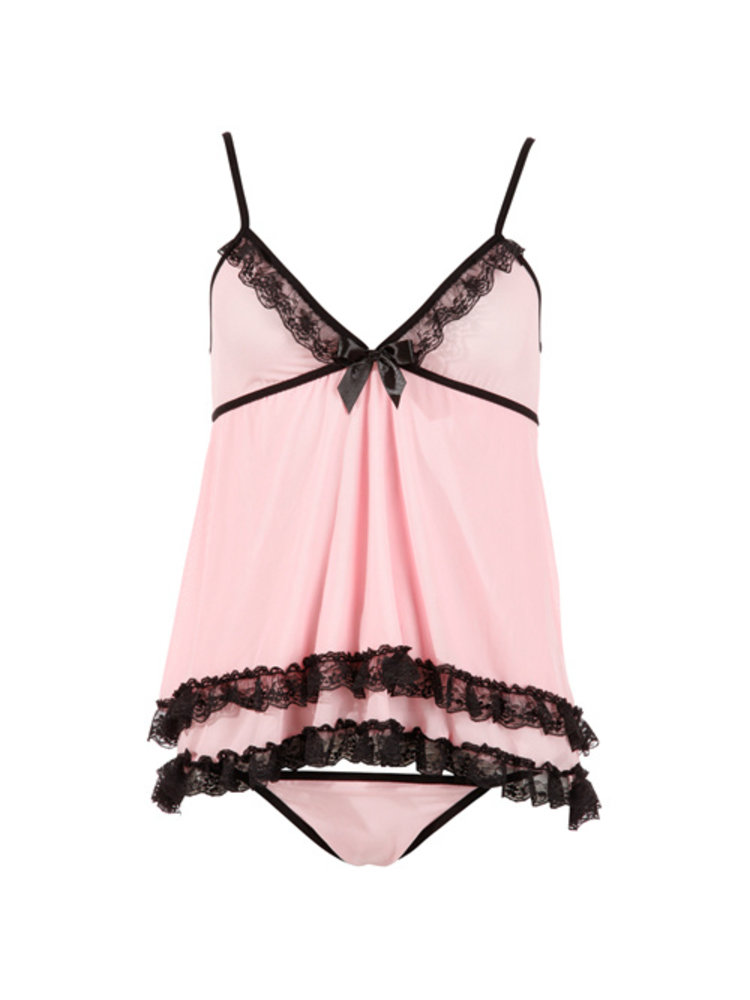 Cottelli Collection Babydoll-Set in Pink