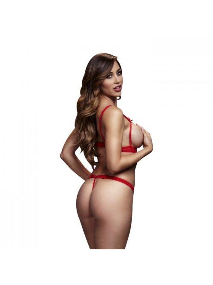 Baci Lingerie Baci - Bodysuit mit Cut Outs und Trägern - Rot