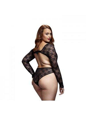 Baci Lingerie Baci - Spitzen-Bodysuit mit offenem Rücken - Für Kurven