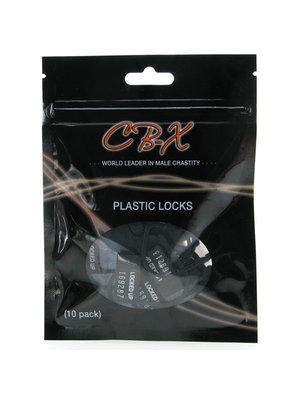 CB-X CB-X Vorhängeschlösser aus Kunststoff – 10 Stück