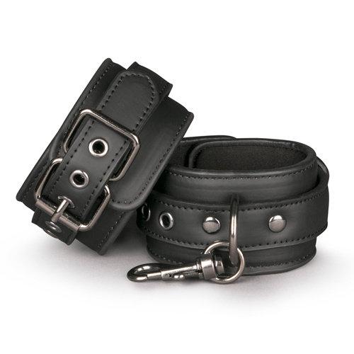 Easytoys Fetish Collection Schwarze Handgelenkmanschetten aus Leder