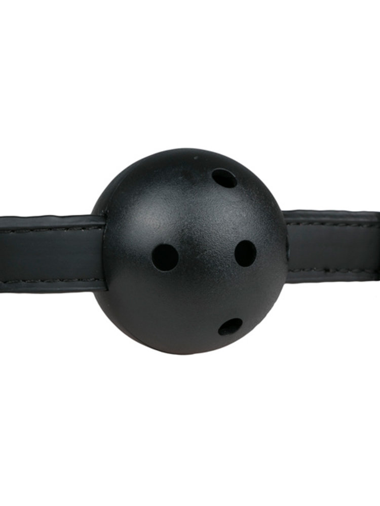 Easytoys Fetish Collection Ballknebel mit PVC-Ball - Schwarz