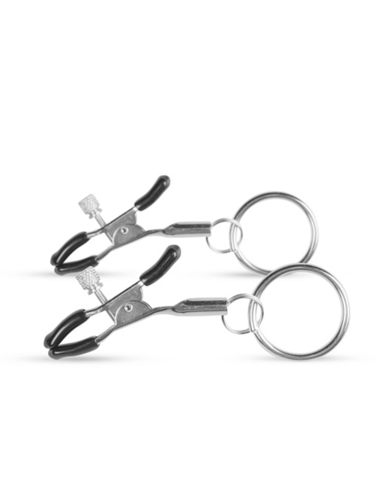 Easytoys Fetish Collection Metall Nippelklammern mit Ring