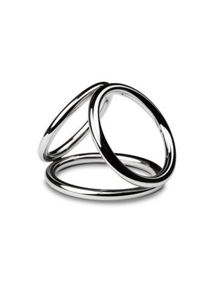 Sinner Gear Unbendable Triad Chamber Metall-Penis- und Eierring - Medium