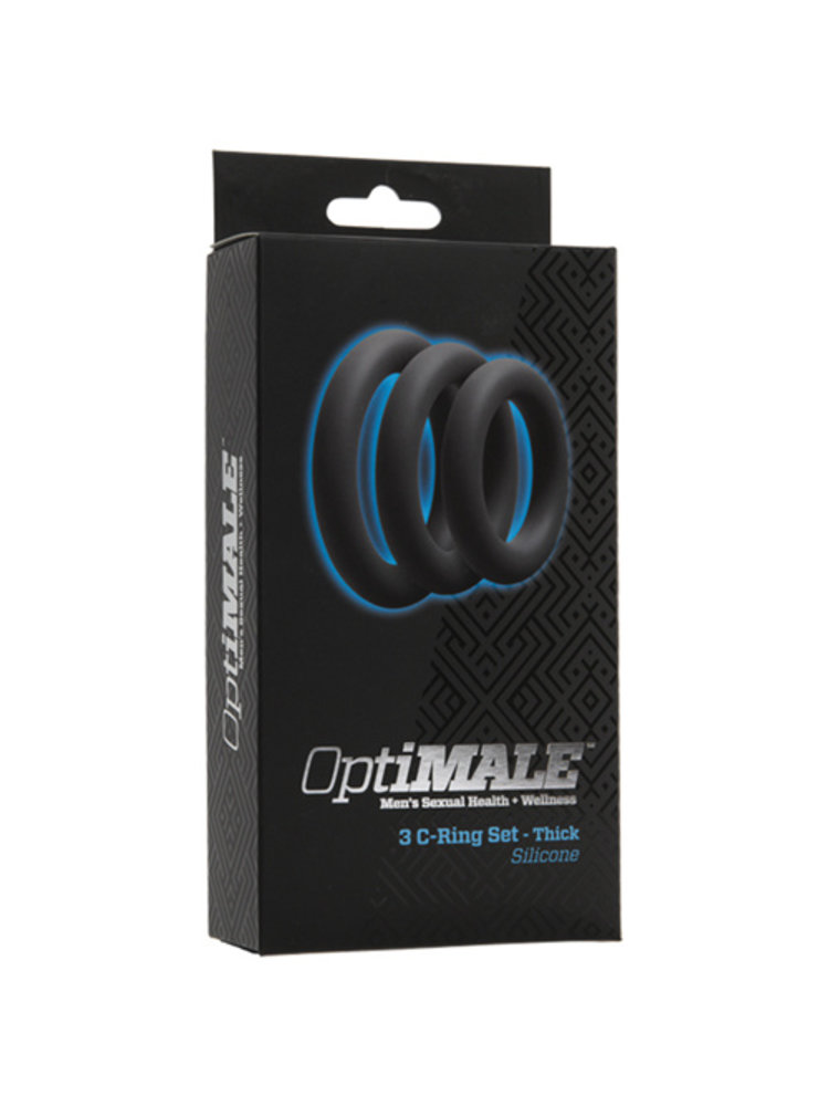 OptiMALE 3-teiliges Penisring-Set in Grau