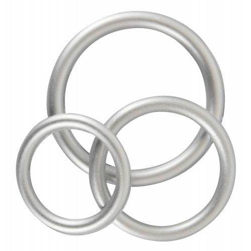 You2Toys Penisring-Set aus Silikon - Metallic
