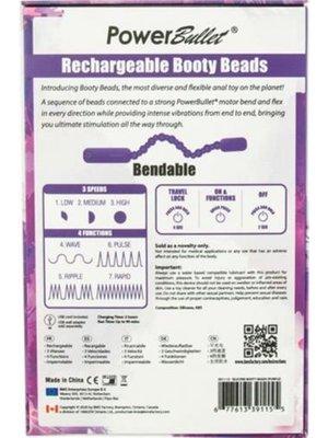 PowerBullet Booty Beads Vibrierende Analperlen - Lila