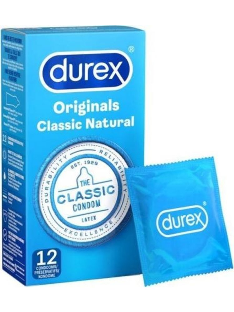 Durex Kondome Durex Classic Natural 12 Stück