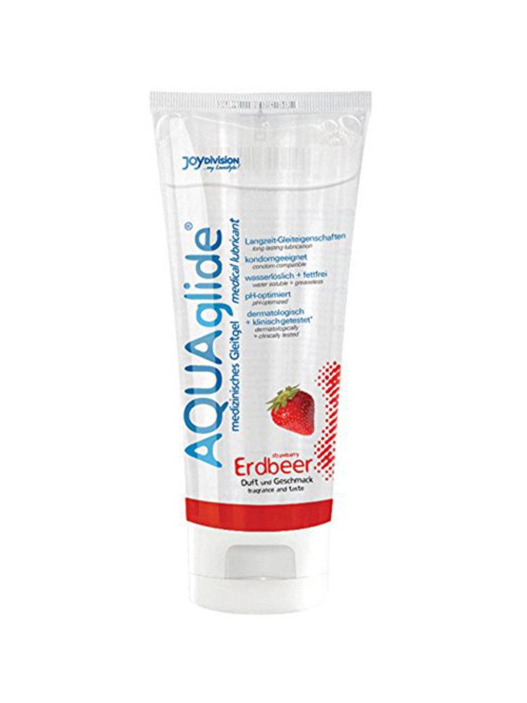 Joydivision AQUAglide Erdbeer-Gleitmittel - 100 ml