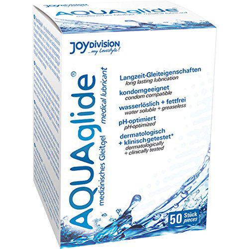 Joydivision AQUAglide wasserbasiertes Gleitmittel - 50 Beutel