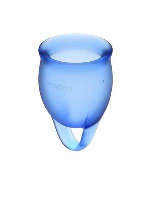 Satisfyer Fühlen Sie sich sicher Menstruationstasse - Blau
