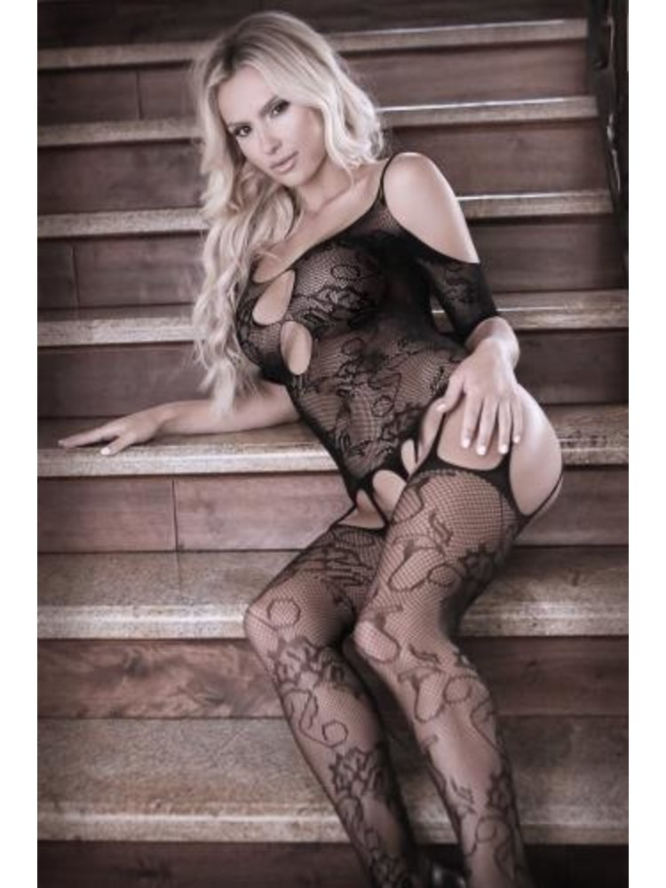Sheer Fantasy Aphrodite Straps-Catsuit mit Schulterausschnitt