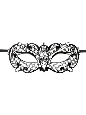 Easytoys Fetish Collection EasyToys – Venezianische Maske aus Metall in Schwarz