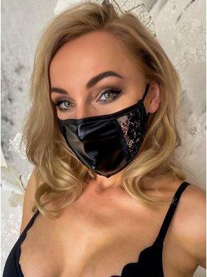 Noir Handmade Maske Spitze